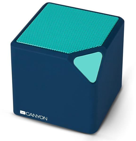 Canyon CNS-CBTSP2 Bluetooth reproduktor, prenosný, 3.5mm mini jack, microUSB, integr. akum. 300mAh, tyrk.