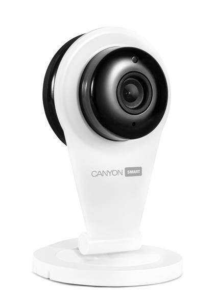 Canyon CNSS-CB1W Wireless indoor IP kamera, HD, multifunkčné využitie v domácnosti, biela