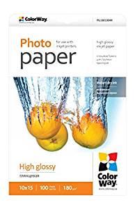 ColorWay Fotopapier Vysoko lesklý 180g/m,100ks,10x15