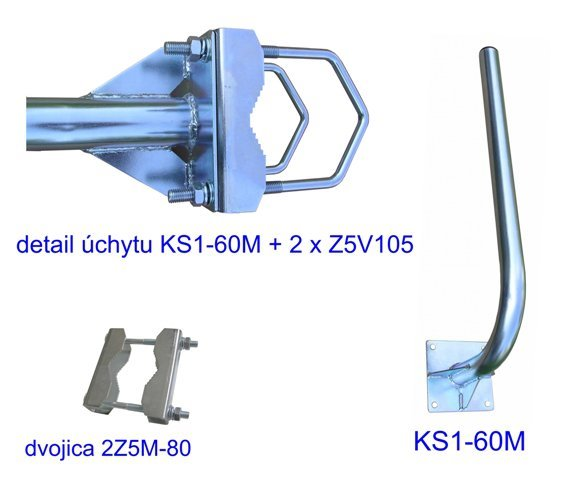 CSAT KS1-60M+2x Z5V105 konzola na stožiar