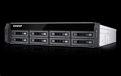 QNAP™ TS-EC880U-E3-4GE-R2 8 Bay NAS, Intel Xeon E3- 3.5GHz 4GB DDR3L RAM,4x Giga LAN