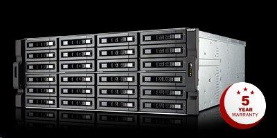 QNAP™ 2U 24-bayTVS-EC2480U-SAS-RP-16G-R2, Xeon E3-1246 v2 3.5GHz 16GB RAM 4xGigaLan