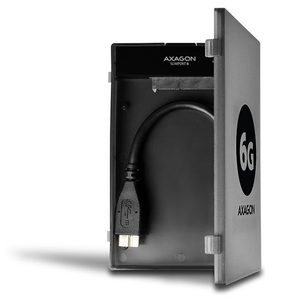 AXAGON ADSA-1S6 USB3.0 - SATA 6G UASP HDD externý adaptér vrátanie pouzdra