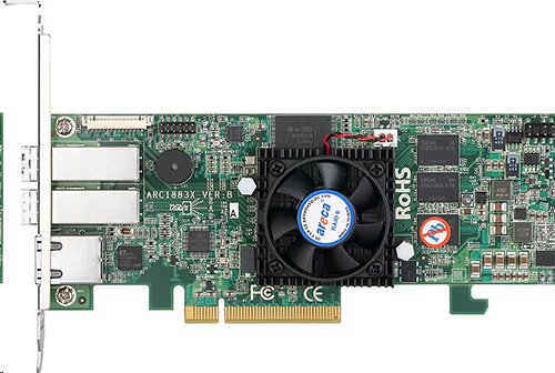 ARECA ext 8port (2x SFF-8644 12Gb/s SAS RAID, 2GB DDR3, PCIe x8 Card, LP