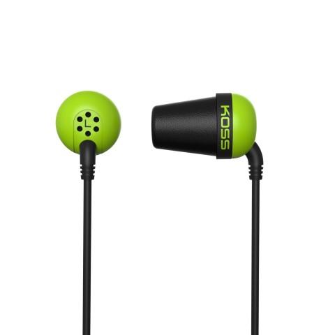 KOSS Plug Color sluchatka vysokej kvality - zelene