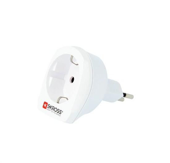 SKROSS cestovný adaptér pre použitie vo Švajčiarsku, biely
