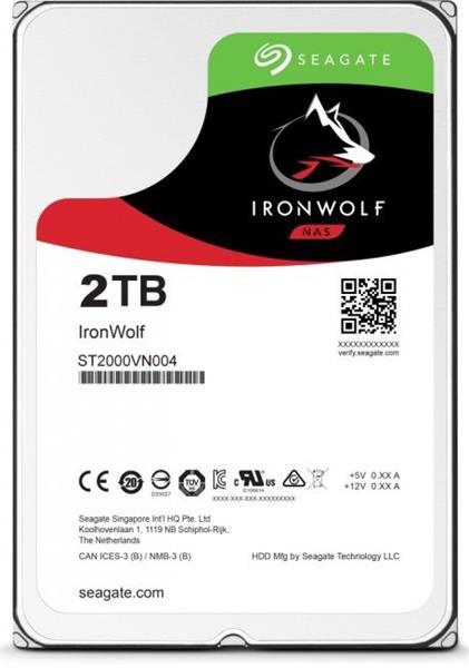 Seagate IronWolf Pro NAS HDD 2TB 7200RPM 128MB SATA III 6Gbit/s