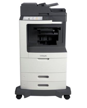 Lexmark MX810dfe, mono laser MFP, 52ppm, 1024MB, 800MHz, USB, GLan, Fax, Zošíivačka