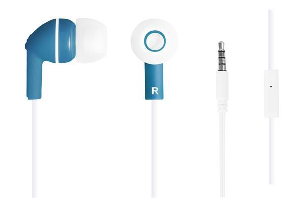 Canyon CNS-CEP03BL štýlové slúchadlá do uší, pre smartfóny, integrovaný mikrofón a ovládanie, modré