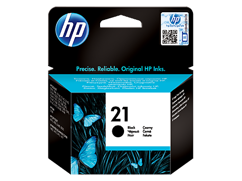 HP No. 21 Black Inkjet Print Cartridge (5 ml)