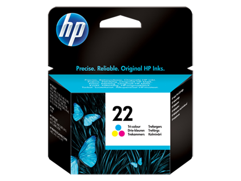 HP No. 22 Inkjet Print Cartridge, tri-colour (5 ml)