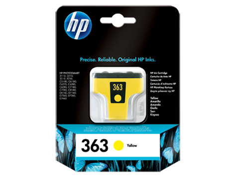 HP No. 363 Yellow Ink Cartridge (6 ml)