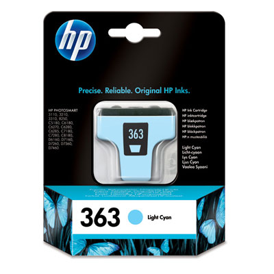 HP No. 363 Light Cyan Ink Cartridge (5,5 ml)
