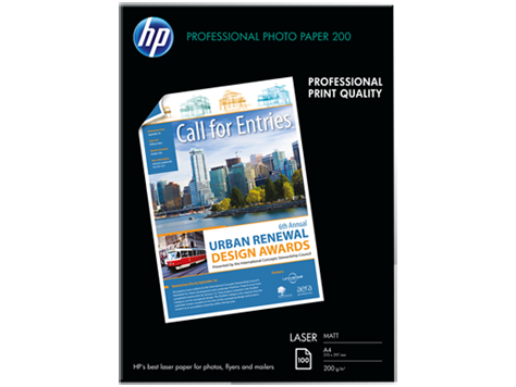 HP Photo Laser Paper 200 Matt-200 g/m2/A4/210 x 297 mm/100sh