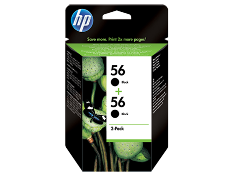HP Ink Cart 56/black 19ml 2pk