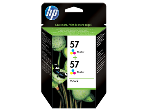 HP Ink Cart 57/3c 17ml 2pk