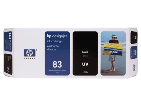 HP UV No. 83 Black Ink Cartridge (680 ml) for HP DSJ 5000