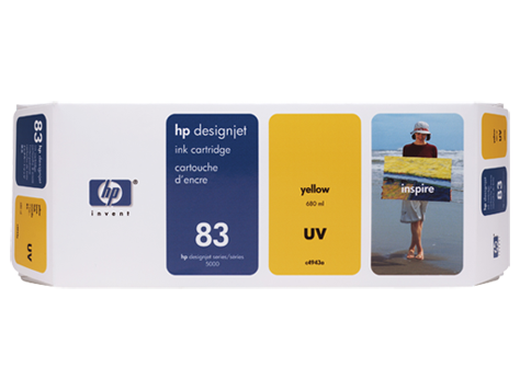 HP UV No. 83 Yellow Ink Cartridge (680 ml) for HP DSJ 5000