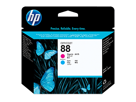 HP No. 88 Magenta and Cyan Printhead