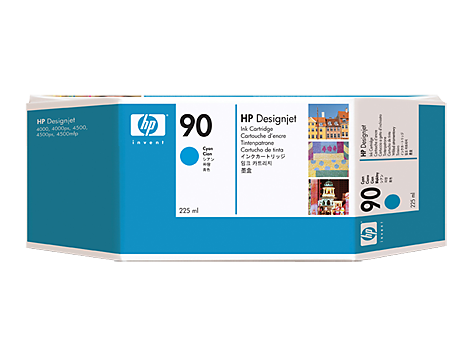 HP No. 90 Cyan Ink Cartridge (225 ml)