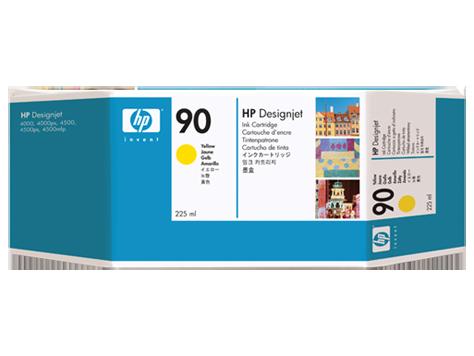 HP No. 90 Yellow Ink Cartridge (225 ml)