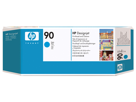 HP No. 90 cyan Printhead and Printhead Cleaner