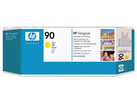 HP No. 90 Yellow Printhead and Printhead Cleaner