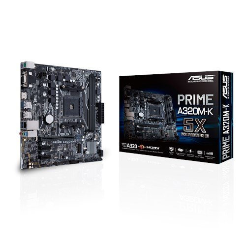 ASUS PRIME A320M-K soc.AM4 A320 DDR4 mATX M.2 D-Sub HDMI