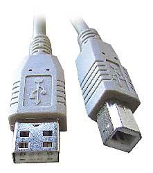 Kábel USB 2.0 typ A-B 0.5m