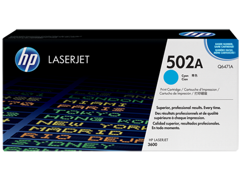HP Toner Cartridge Cyan for CLJ 3600, up to 4,000 pages