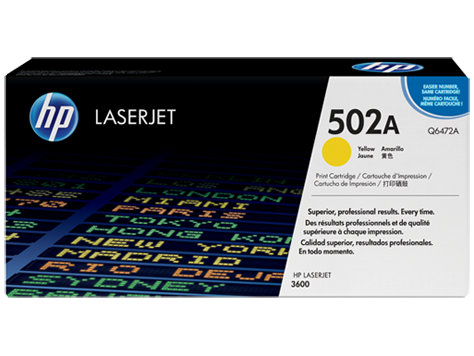 HP Toner Cartridge Yellow for CLJ 3600, up to 4,000 pages
