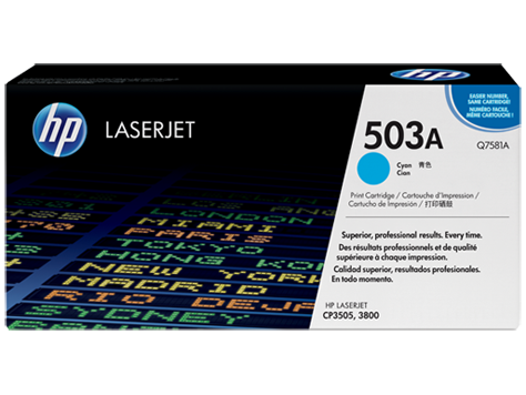 HP Toner Cartridge Cyan for CLJ 3800, up to 6,000 pages