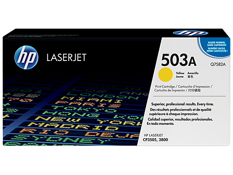 HP Toner Cartridge Yellow for CLJ 3800, up to 6,000 pages