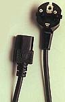 Kábel sieťový 220V/230V, 3m VDE