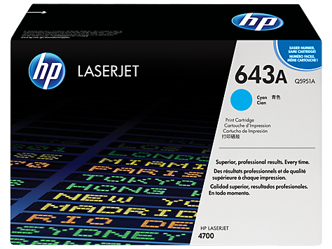 HP Color LaserJet cyan Print Cartridge for CLJ4700 10.000p