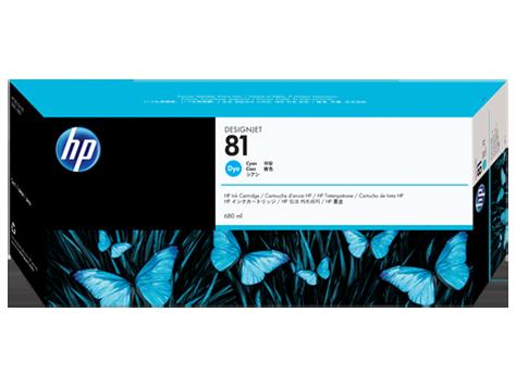 HP No. 81 Cyan Ink Cartridge (680 ml) for HP DSJ 5000
