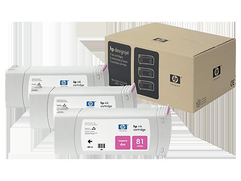 HP No. 81 Dye 3-Ink Multipack, Magenta