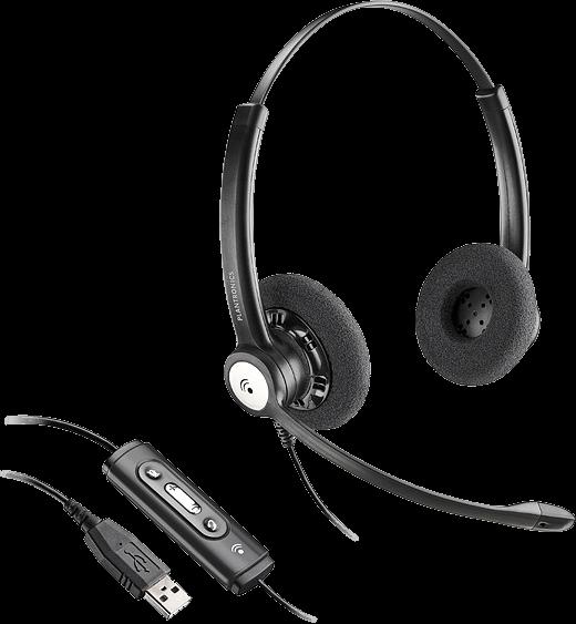 Plantronics ENTERA HW121N-USB-M náhlavná súprava Microsoft na obe uši so sponou