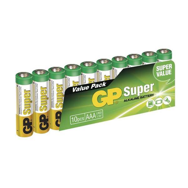 GP Super alkalická AAA microtužková batéria, balenie 10 ks. LR03
