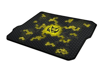 Hráčska podložka pod myš C-TECH ANTHEA CYBER YELLOW, 320x270x4mm, obšité okraje