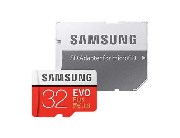 32 GB . microSDHC karta Samsung EVO Plus + adapter