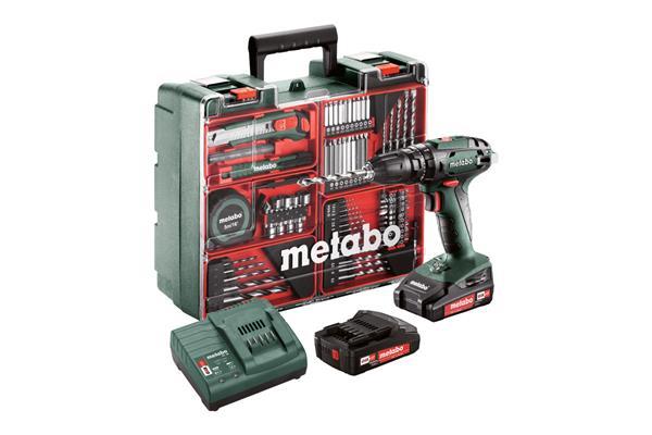 Metabo SB 18 Set Mobilná dielňa, 18-Voltová Aku-vŕtačka so skrutkovačom + príslušenstvo