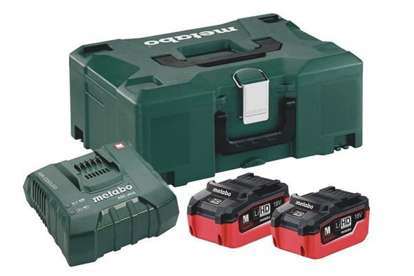 Metabo Basic-Set 2 x LiHD 5.5 Ah + ML