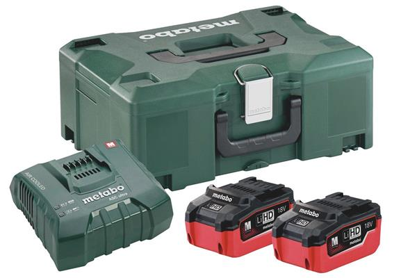 Metabo Basic-Set 2 x LiHD 6,2 Ah ASC Ultra + ML