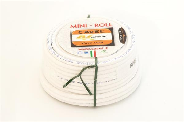 CAVEL kábel koaxiálny 6,6mm PVC konektor 2xF - 20m