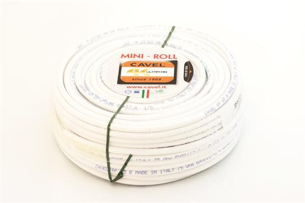 CAVEL kábel koaxiálny 6,6mm PVC konektor 2xF - 50m