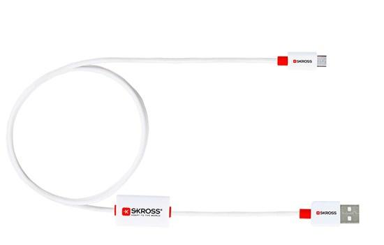 SKROSS alarm USB kábel SKROSS BUZZ Micro USB, akustické upozornenie, dĺžka 1m, micro USB konektor, pre nabíjanie a preno