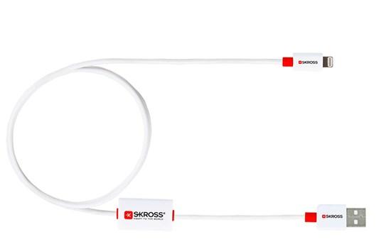 SKROSS alarm USB kábel SKROSS BUZZ Lightning Connector, akustické upozornenie, dĺžka 1m, micro USB konektor, pre nabíjan