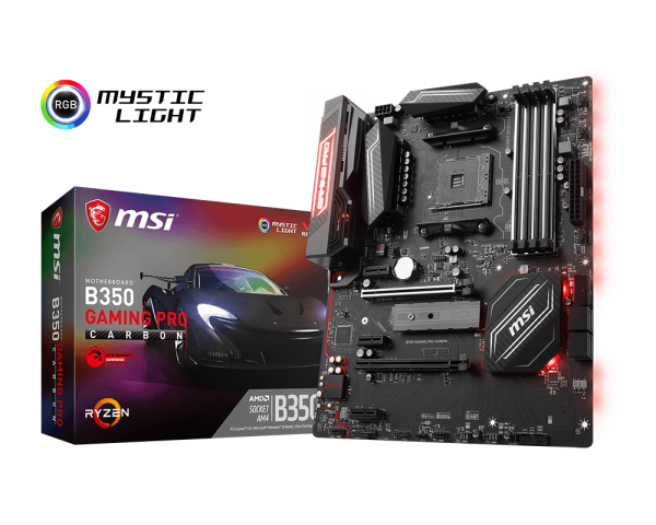 MSI B350 GAMING PRO CARBON/Socket AM4/DDR4/USB3.1/DVI-D/HDMI/1211AT/ATX