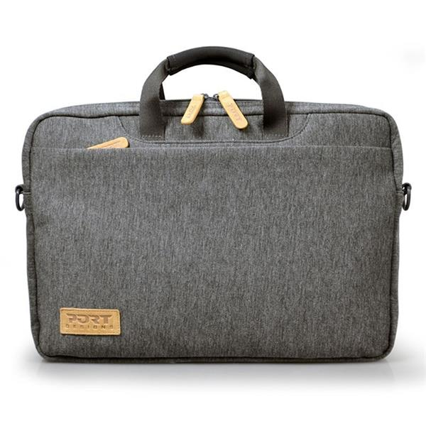 PORT DESIGNS TORINO Toploading taška na 15,6' notebook, šedá